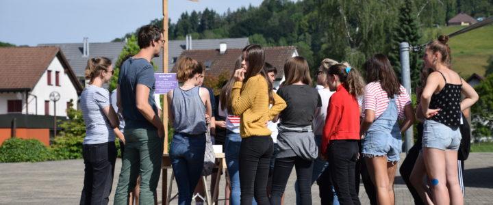 Aktion Frauenstreiktag an der Sekundarschule Neftenbach
