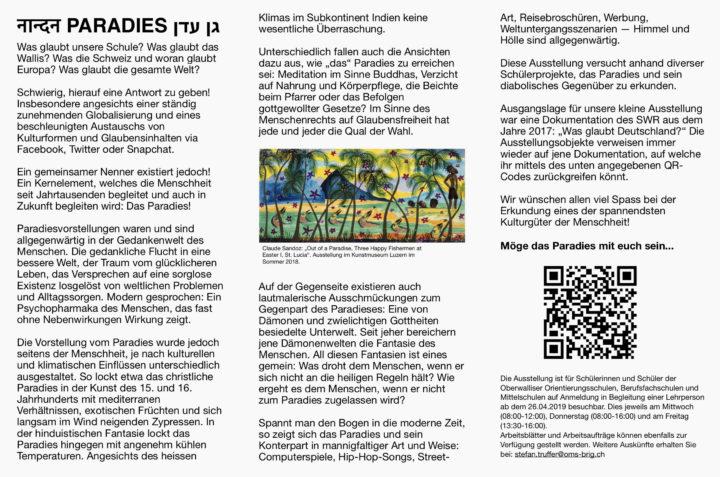 Ausstellungsflyer_grau. Flyer zur Ausstellung